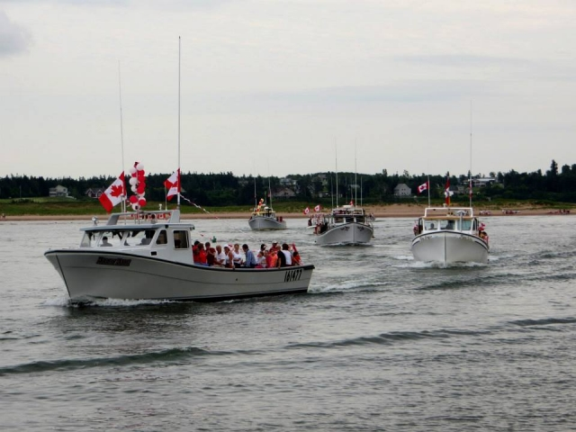 Boat Parade in North Rustico Harbour