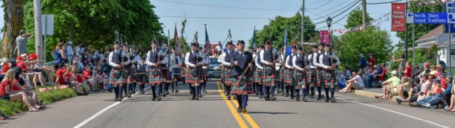 College of Piping Band in the Canada Day Parade 2015