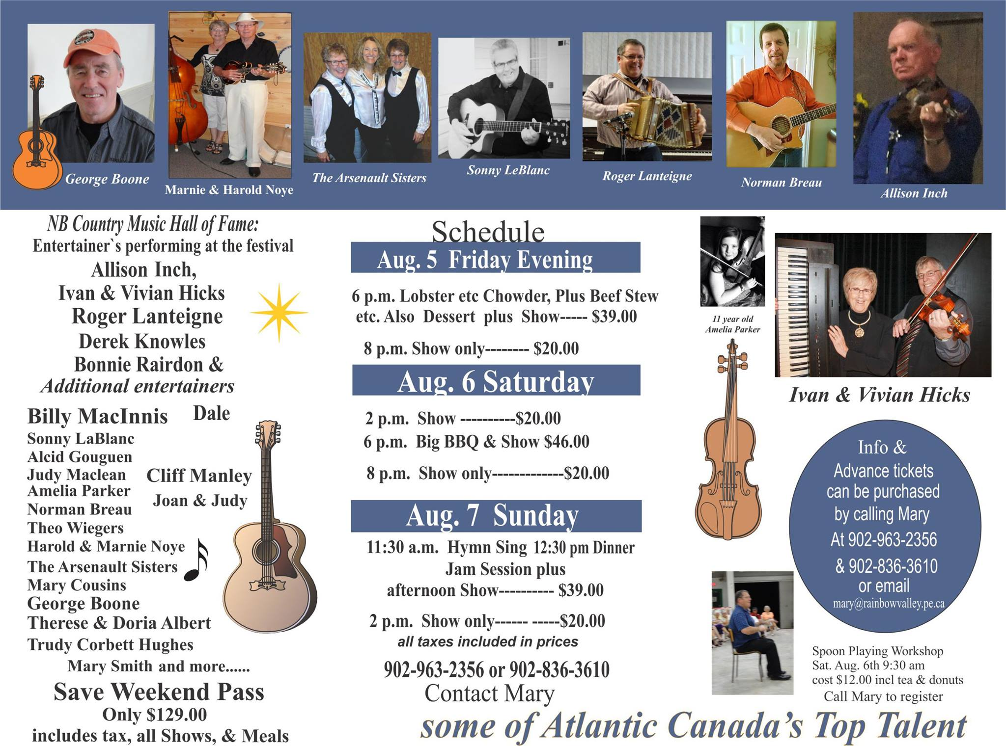 North Rustico Country Music Festival Brochure