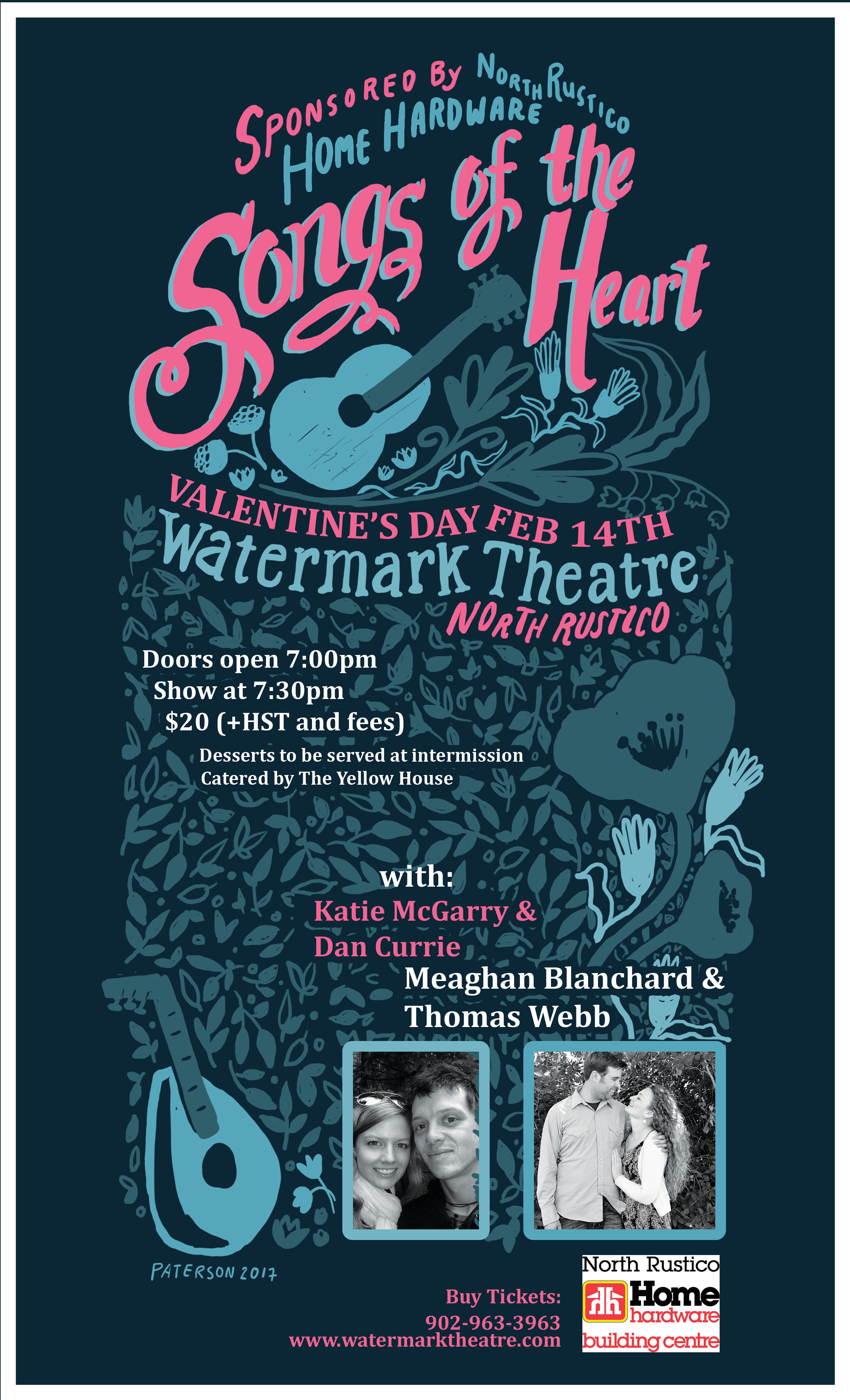 Songs of the Heart Valentine's Day Concert @ Watermark Theatre | North Rustico | Prince Edward Island | Canada