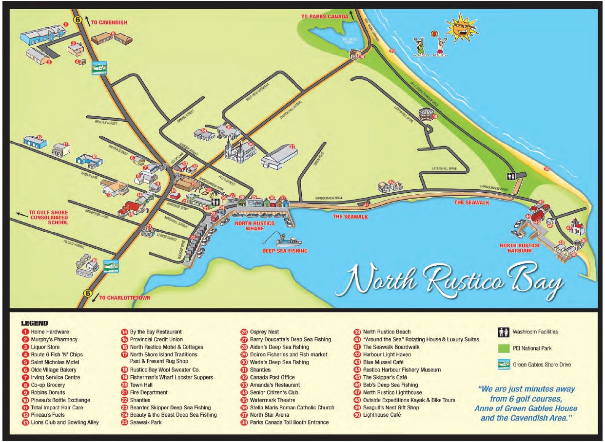 directions charlottetown to north rustico