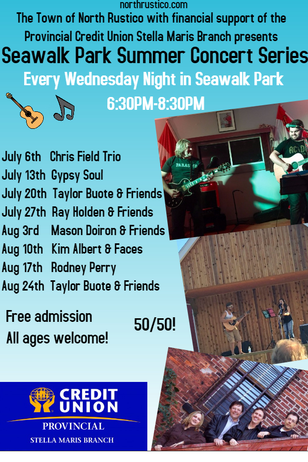 Seawalk Park Summer Concert Series Schedule